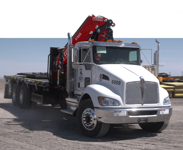 Boom Truck for placing steel trench plates